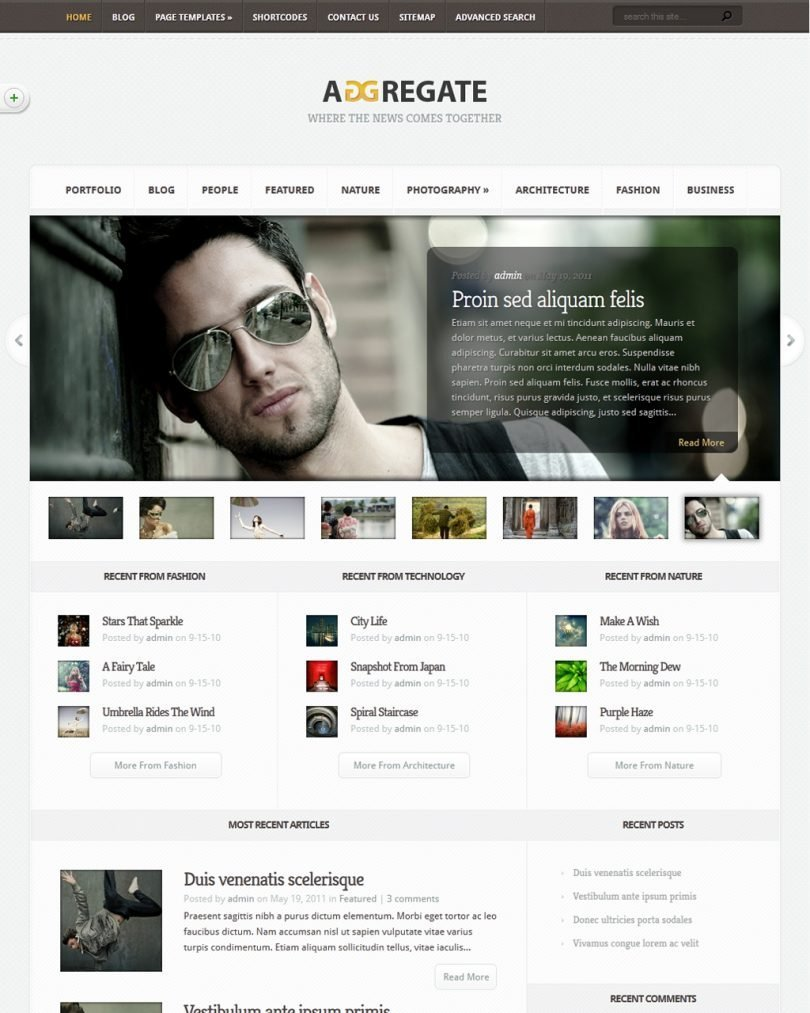Elegant Themes Aggregate Wordpress Theme
