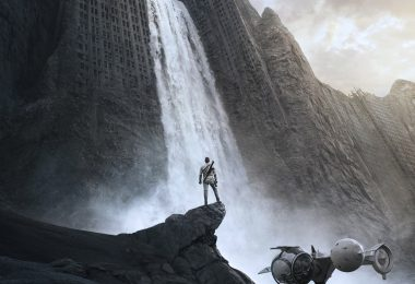 Oblivion Movie Poster starring Tom Cruise and Morgan Freeman