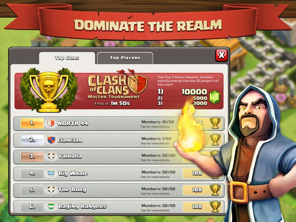 Clash of Clans iOS Dominate Realm