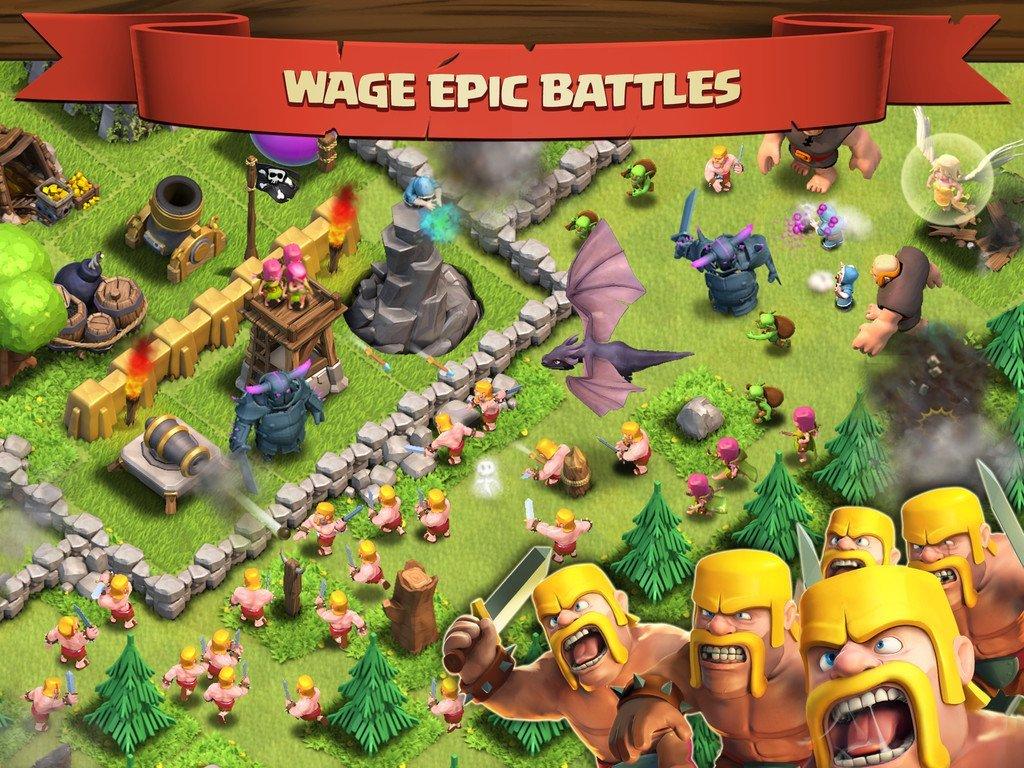 Clash of Clans iOS Epic Battles