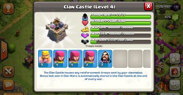 Clash of Clans - Clan Wars War Loot in Clan Castle