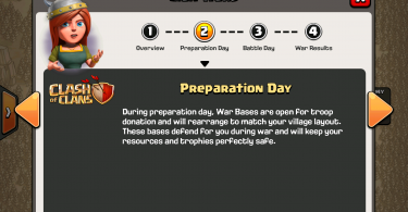 Clash of Clans - Clan Wars Preparation Day