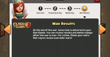 Clash of Clans - Clan Wars War Results