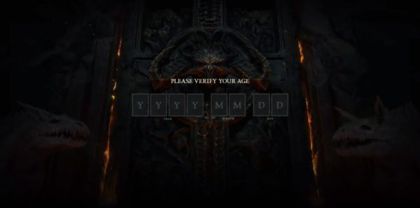 Diablo IV 4 Website Age Verification