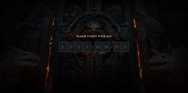 Diablo IV 4 Website Age Verification