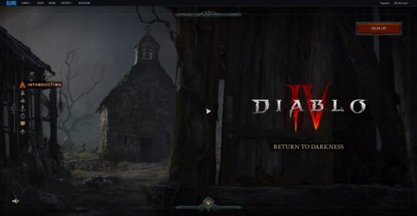 Diablo 4 Website Homepage Return to Darkness