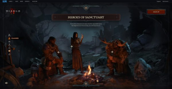 Diablo 4 Website Classes Heroes of Sanctuary