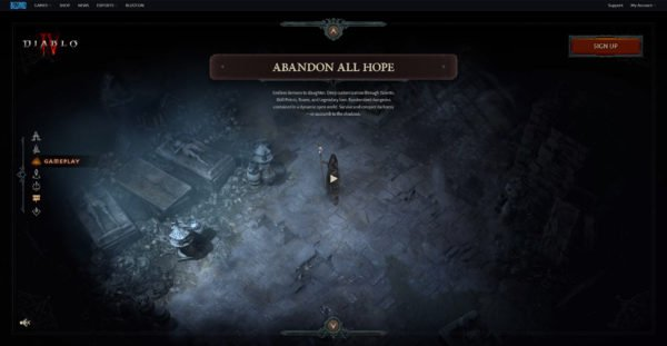 Diablo 4 Website Gameplay Abandon All Hope