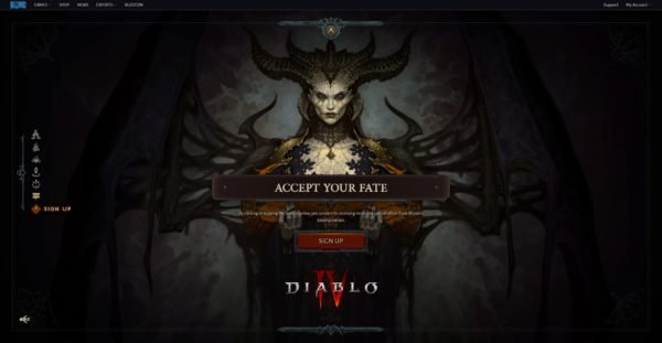 Diablo 4 Sign Up Accept Your Fate
