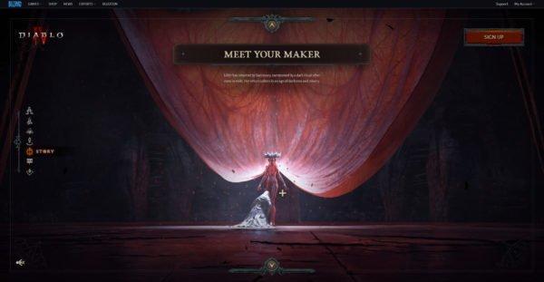 Diablo 4 Website Story Meet Your Maker