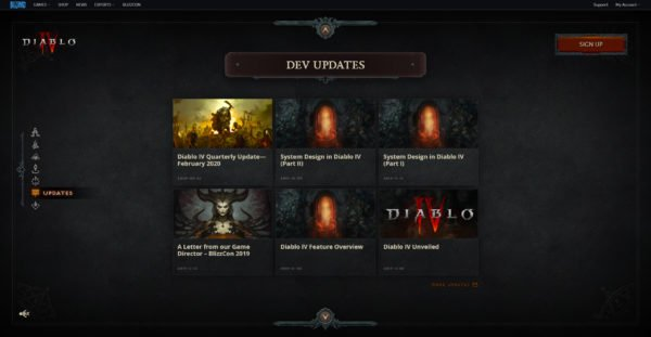 Diablo 4 Website Dev Updates