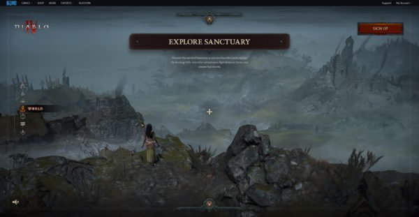 Diablo 4 Website World Explore Sanctuary