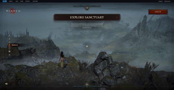 Diablo 4 Website World Explore Sanctuary